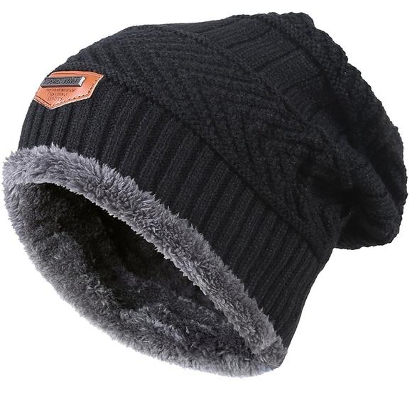ce3039b1dd7 Winter Knitting Skull Cap Wool Slouchy Beanie Hat